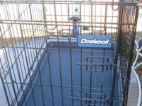 Very nice dog crate, NEW, never used Door is on the