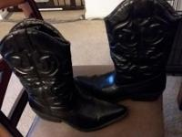 SM New York Women's Lasso Black cowboy boots size 11