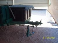 2 WHEEL UTILITY TRAILER-- WOOD BOX-- TIP UP-- 2 NEW