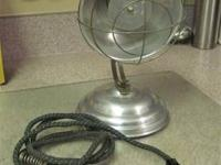 Vintage Small Aluminum Electric Heater -- Works Great -