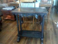 Small antique table for sale. The finish is really