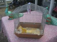 Nice little house shaped cage for little birds Metal