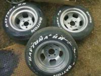 two 14x8 and two 14x10 wheels off a Chevy s10. Wheels