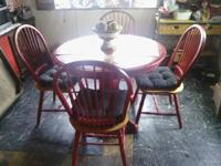 i have for sale  a small  round breakfest table with 4