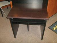 New computer desk (small in size), black & wood in