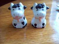 Very cute cows salt and pepper shakers. about 2.5""