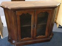 Real nice small Curio or display cabinet Has wire mesh