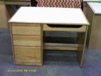 "for sale a nice smaller desk 43""W X 30""D X 30""H has a"