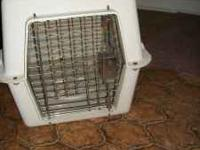 Small hard shell dog/cat crate and an auto feeder food