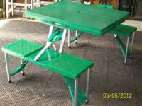 Small plastic folding table that can be used for