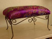 A touch of style and color at home. Footstool with