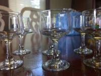 Beautiful glass stemware, great for dessert cups, set