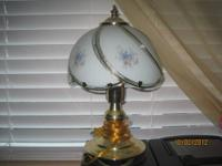 This small table lamp is slightly used but is still in