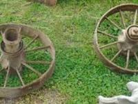 We have Small Iron Wagon Wheels. They are in good
