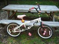 Young Girl's bike pink $40 good condition. Call  or