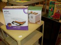 all new in box toaster $5, waffle maker $5 , roaster