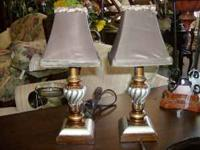 "12"" Lamps. Great condition and they work. I am asking"