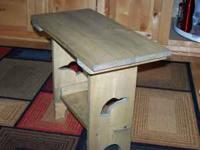 New built weathered loon table. 18 inches tall, 22.5
