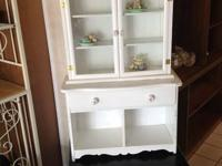 small white medicine cabinet with glass doors   Please