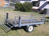 I have a 12' by 6' trailer, the hauling bed is 4' by 7'