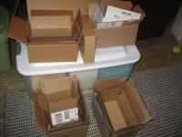 HAVE APPROX. 30 SMALL PACKING BOXES-- ALL IN VERY GOOD