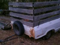 Cargo trailer built out of a 70's ford courier truck