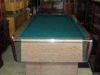This a small pool table in excellent condition. Hardly