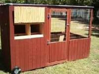 Small portable coop 4'X8'X5' high, that can house 5-8