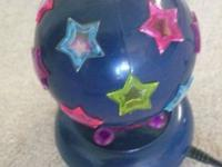 Blue base lamp with several color stars,revolves for