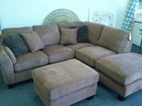 This brand new sectional with contemporary lines and