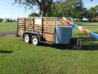 SELLING A SMALL STOCK TRAILER. 55 INCHES X 14 FT.. THIS