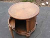 Small round table. Use for end table or TV stand or