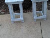 Handmade small end tables made from antique local barn