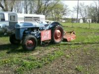 1952? ford 8N tractor with 5' brush hog. with 3 point