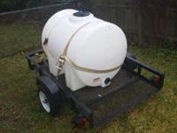 Great small Trailer & 225 Gallon Water Tank for sale.