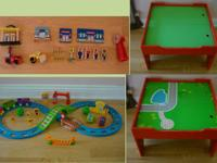 Small Train Table with accessories- $35