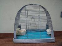 FOR SALE:  VINTAGE METAL BIRD CAGE -  APPROX. 13.5""