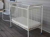 Crib is in excellent condition, folds up compactly to