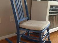 Little wood rocking chair. Has actually been repainted