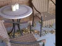 For sale: Small cafe style patio set. Outside or