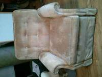 Small recliner, super comfortable. Call Sydney @ .