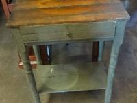 vintage small side table with a drawer, great rustic /
