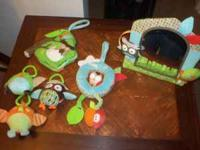 This is a group of toys for infant or toddler, all for
