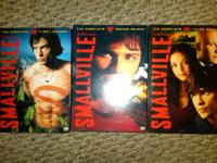 Selling Smallville seasons 1,2,3 excellent condition,
