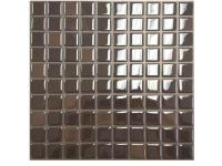 This Smart Tiles 10 in. x 10 in. Brownie Mosaic Vinyl