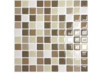 This Smart Tiles 10 in. x 10 in. Multi-Colored Harmony