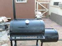 This a custom made smoker made of heavy duty casing,