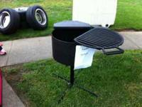 New charcoal smoker grill, could be used as a firepit