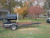 Custum made bbq pit on 15 ft boat trailer, has lights