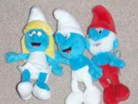 These plush Smurfs are great for collecting or for